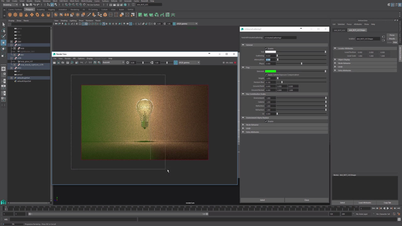 how to create a light source in maya