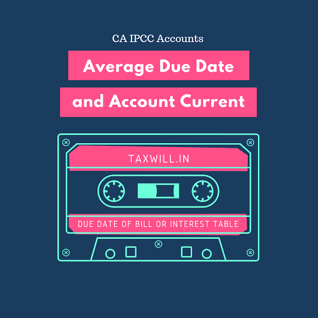 CA IPCC Average Due Date and Account Current