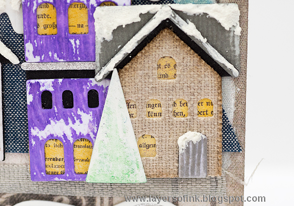 Layers of ink - Winter Village December Journal Video Tutorial by Anna-Karin
