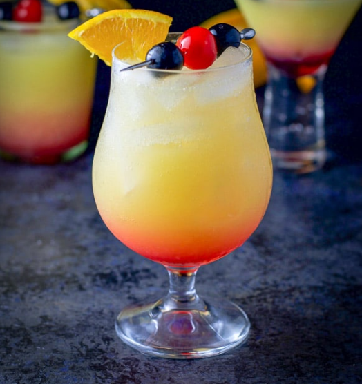 TEQUILA SUNRISE COCKTAIL #drink #cocktail