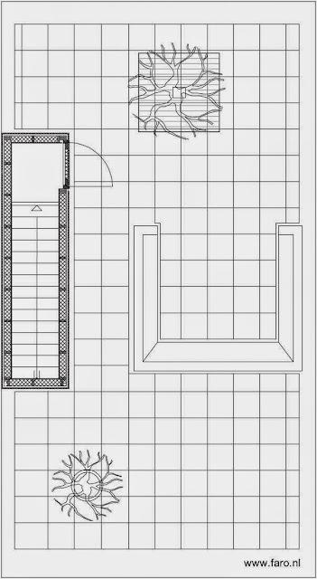 Plano de la planta de la terraza