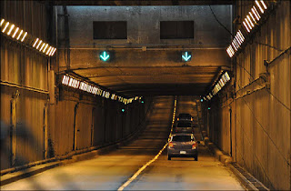 Inside George Massey Tunnel