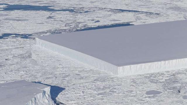 El iceberg que tiene forma de rectángulo