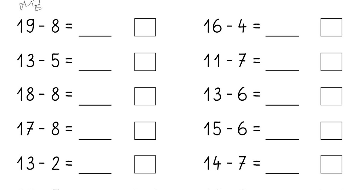 Lernstübchen: Subtraktion über den Zehner ZR 20