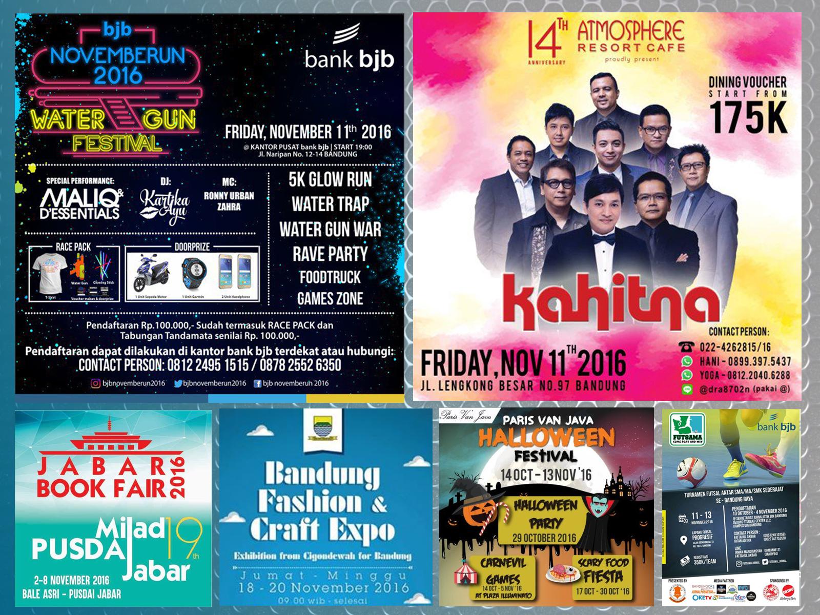 Jadwal Event Bandung Bulan November 2016