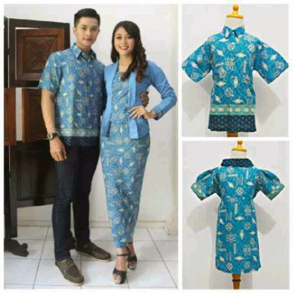 Model Baju Batik Modern Untuk Kerja Wanita: Model Seragam Baju Batik Pasangan Pria Wanita
