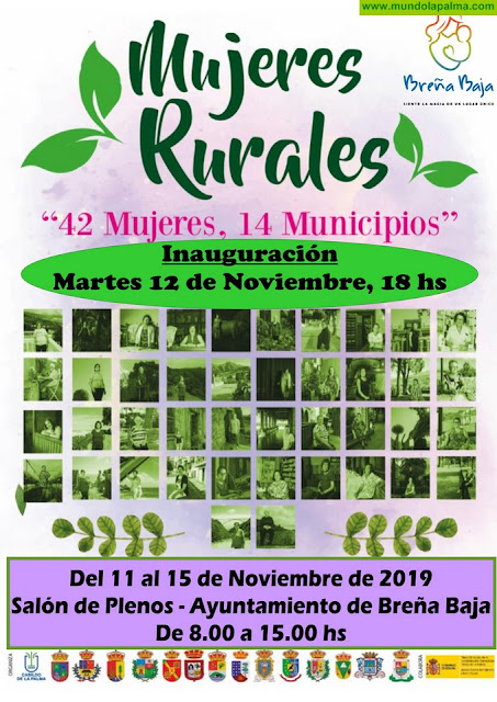 """BREÑA BAJA: exposición """"Mujeres Rurales: 42 mujeres, 14 municipios"""""""