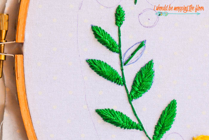 Leaf Embroidery Tutorial