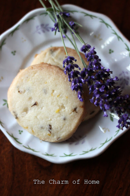 Lemon Lavendar Shortbread Cookies