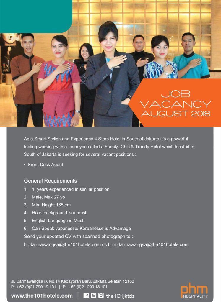 101 Jakarta Jobs News August 2018 - Hotelier Indonesia Jobs