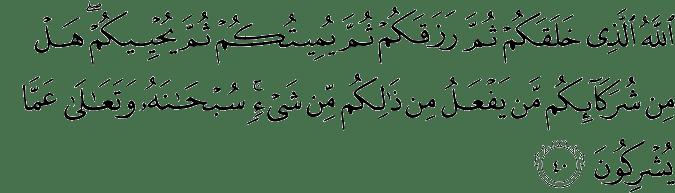 Surat Ar Rum Ayat 40