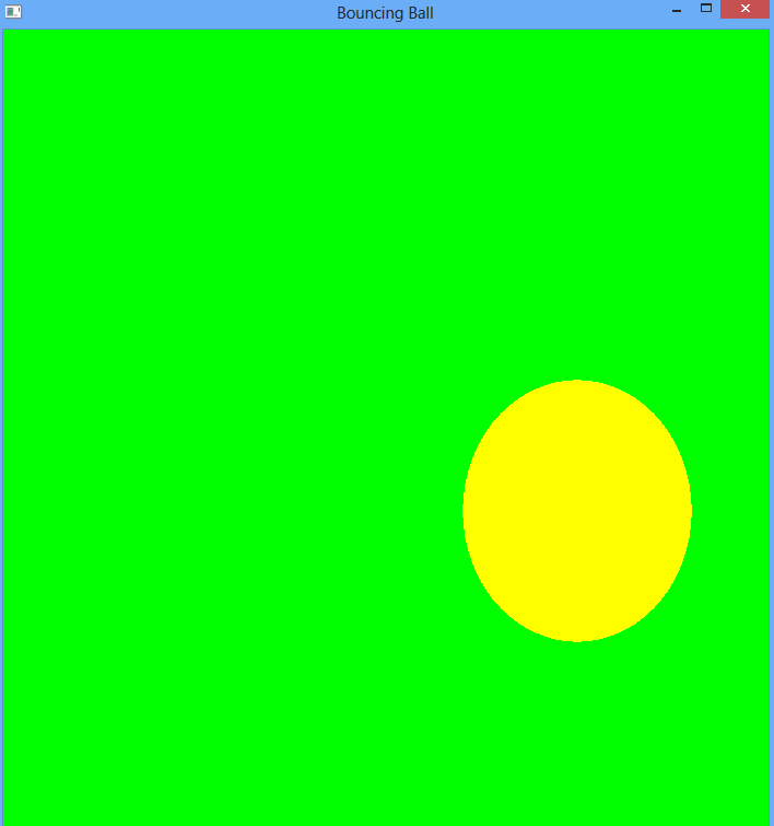opengl projects simple opengl program bouncing ball