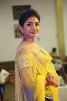 Actress Eesha in Yellow Choli Blue Ghagra at Darshakudu music launch 016.JPG