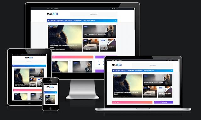 MaxSeo Blogger Template COVID-19 homepage
