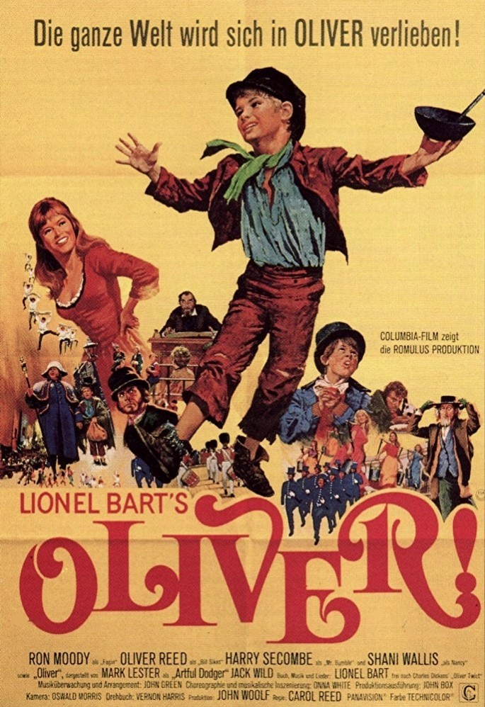 a review of oliver a 1968 british musical drama film by carol reed By the late 60s, the movie musical was losing ground in the world of movies, as society was speeding up, and people wanting more action and drama in movies.