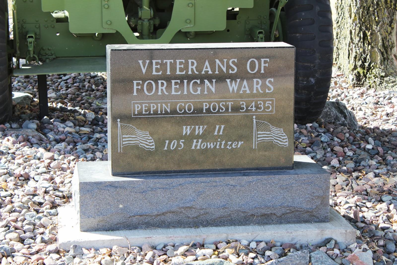 Wisconsin Historical Markers: WW II 105 Howitzer