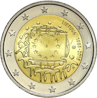 2€ Drapeau Européen 2015 Lituanie