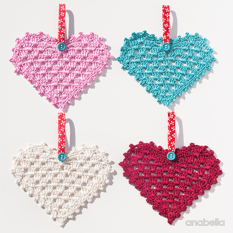 Free Crochet Granny Heart Pattern : Anabelia craft design: Crochet Granny Hearts, free pattern