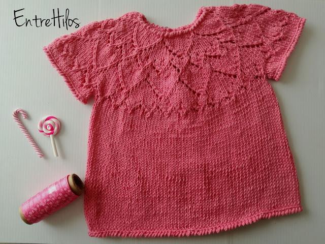 como hacer un jersey con calados para bebe