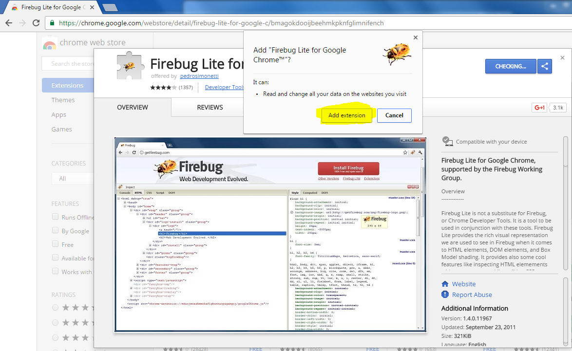 Firebug for chrome | Automation Home
