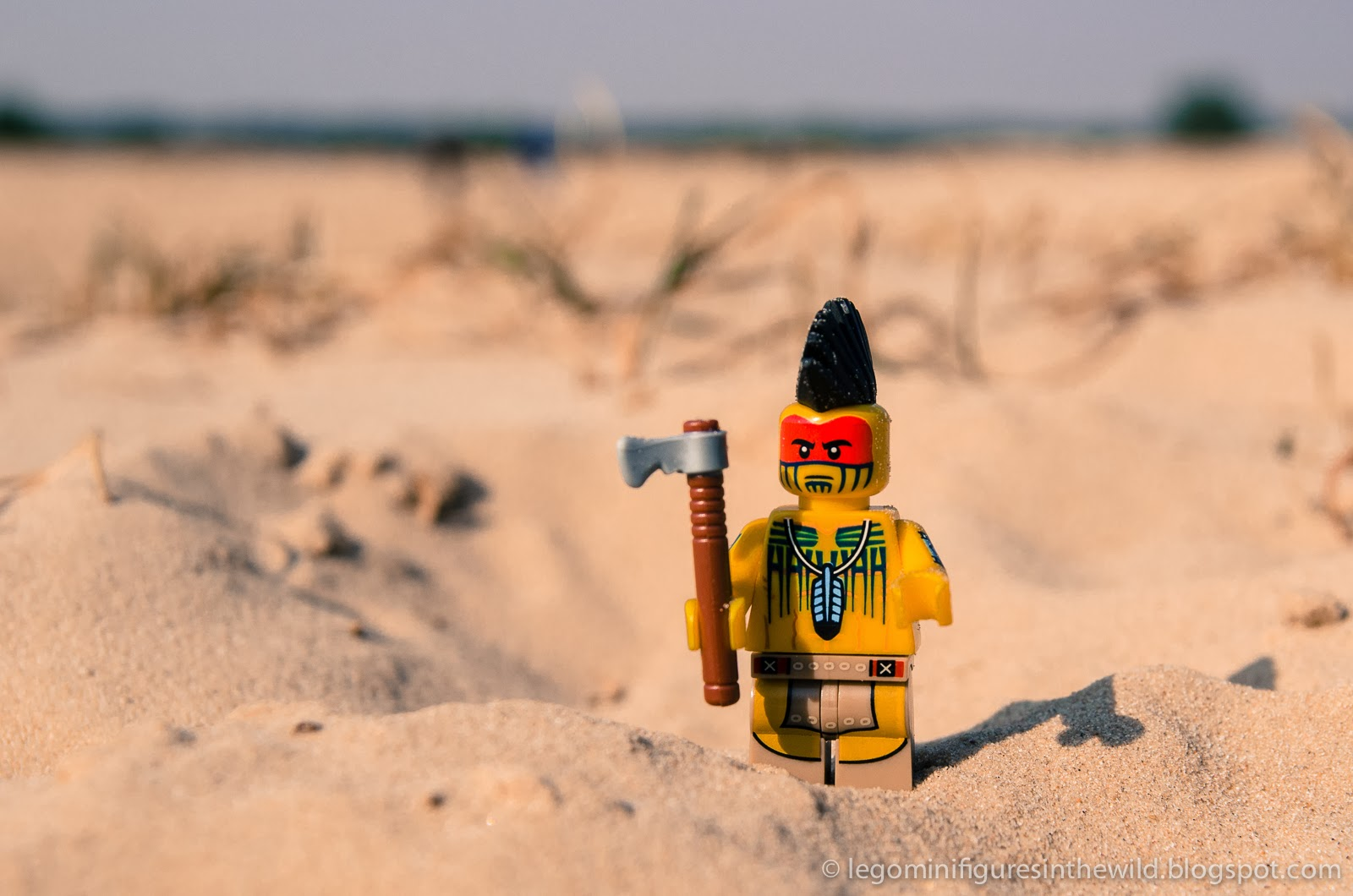 Lego Minifigures Series 10 Tomahawk Warrior - Wallpaper