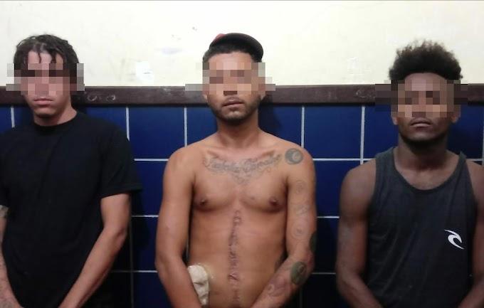 Polícia Militar prende três suspeitos de assassinato em Piritiba