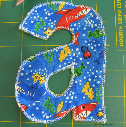 Make Fabric Letters from scraps of fabric and felt ~ Threading My Way