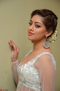 Anu Emmanuel in a Transparent White Choli Cream Ghagra Stunning Pics 076.JPG