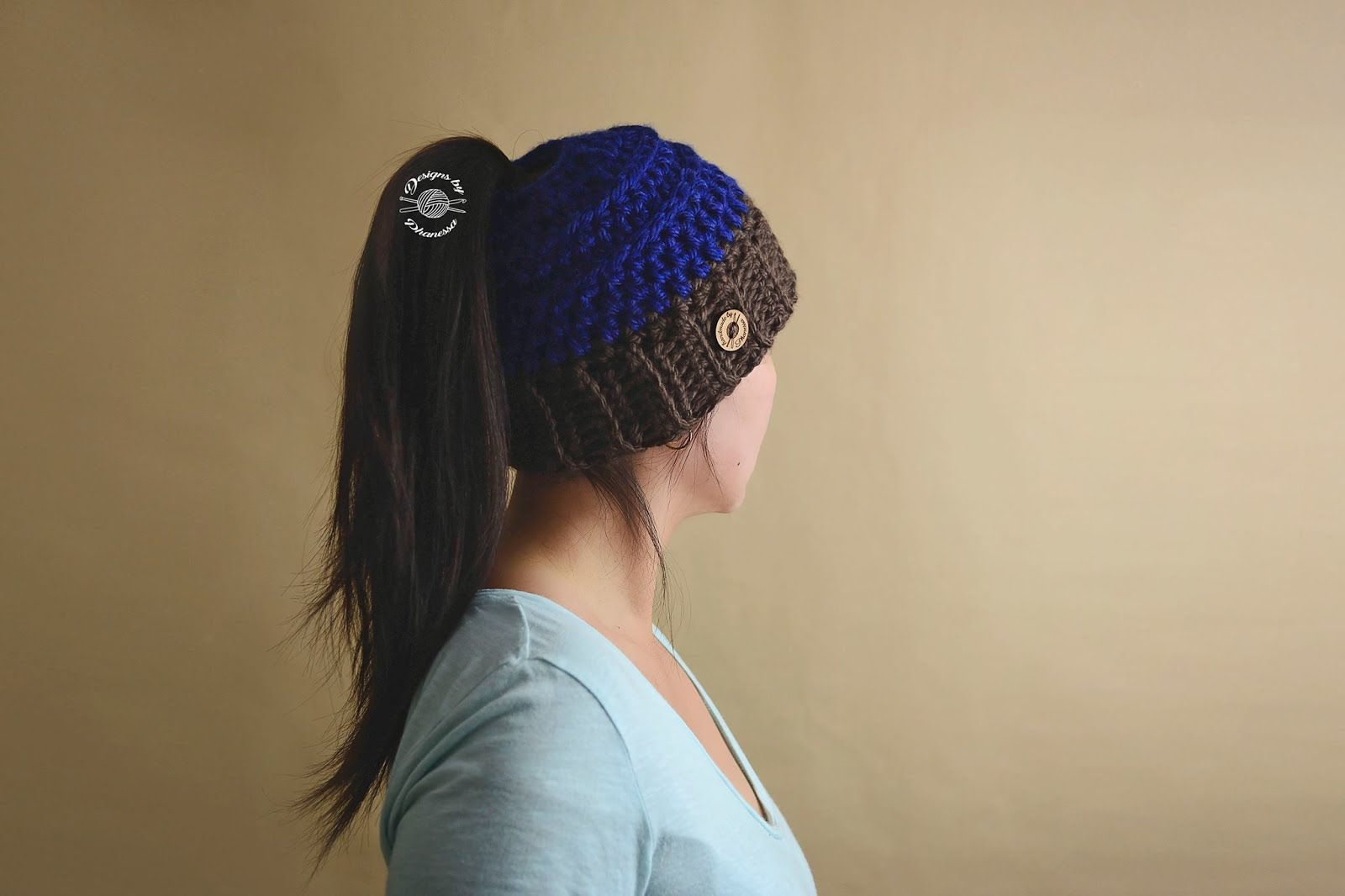 7a839057 Handmade by Phanessa: Chunky Chelle Ponytail/Messy Bun Hat