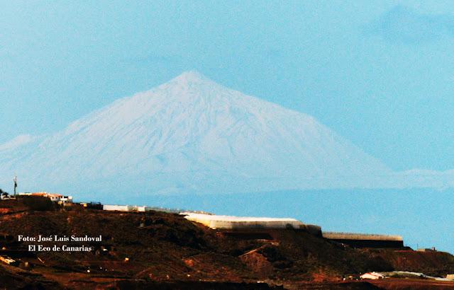 Fotos Teide nevado completamente desde playa Las Canteras