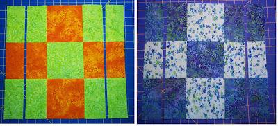 Chock A Block Quilt Blocks Disearing 9 Patch Variation