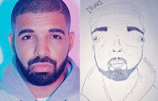 Hilarious:- Just Imagine This Drawing Of Drake (Don't Laugh Ooo)