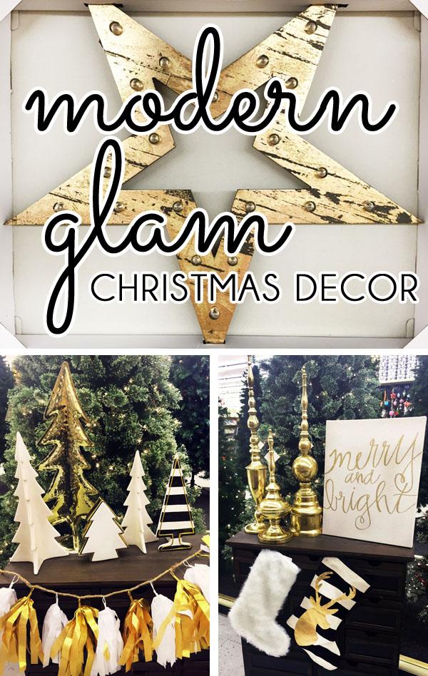 Modern Glam Christmas Decor From Hobby Lobby