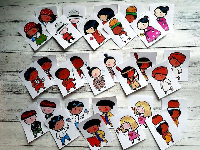 dzieci świata - gra memory - geografia na wesoło - nauka przez zabawę - poznaję świat