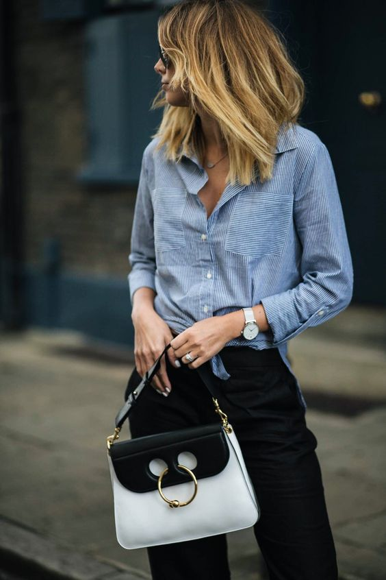 EJ Style Black White J.W. Anderson Pierce Bag
