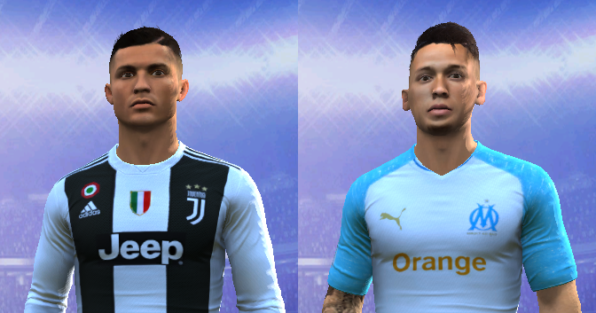 Cristiano Ronaldo and Lucas Ocampos face for FIFA 14