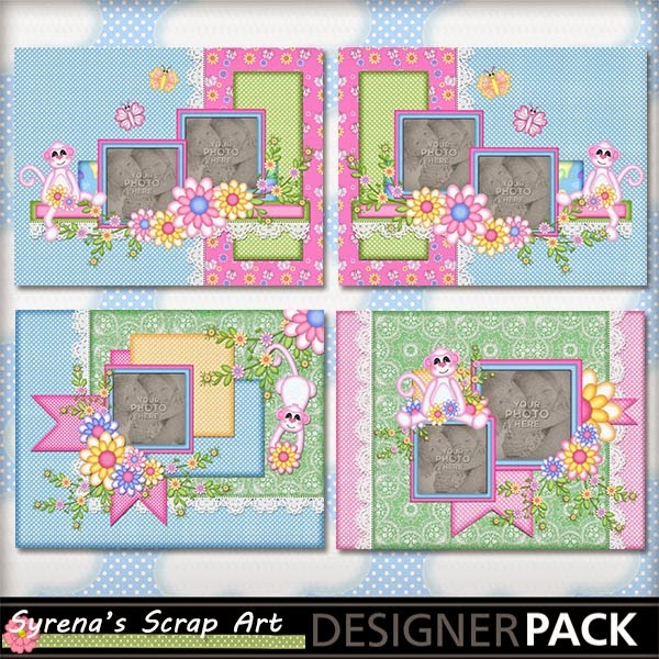 digital scrapbook album template