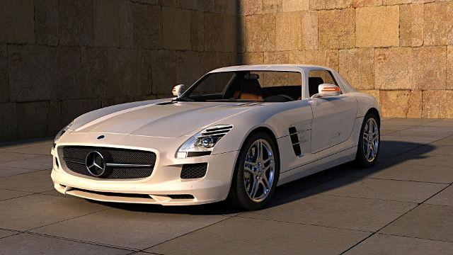 Mercedes SLS AMG - Fond d'écran en Full HD
