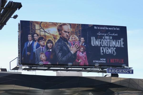A Series of Unfortunate Events season 3 billboard