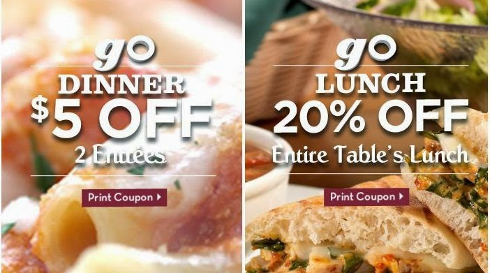 Spikane Olive Garden Labor Day Enjoy your favorite pasta, salad, and breadsticks for less with Olive Garden promo codes, coupons, and specials. Splurge on a Apply this Olive Garden coupon code to get $2 off 2 dinner entrees. Exclusions: Prices may vary in NYC, AK, CA & Canada.