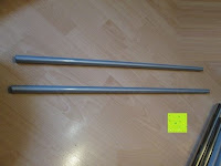 Rohre lang: Doppelkleiderständer mit zwei Kleiderstangen Kleiderständer auf Rollen