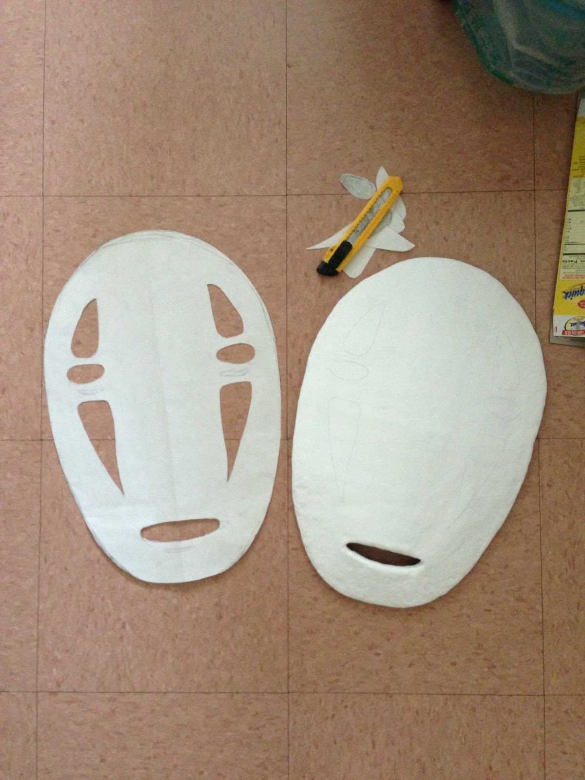 Part 1: No Face Mask Tutorial (Spirited Away) - my cute bow