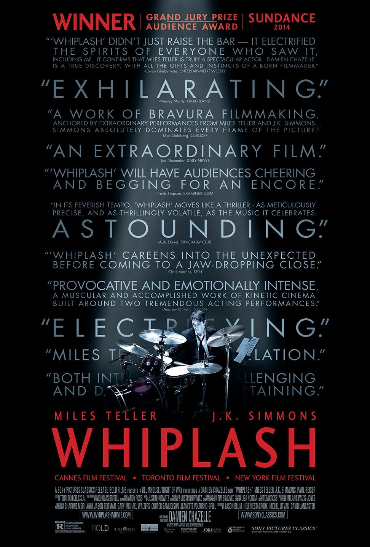 whiplash film recenzja plakat miles teller j. k. simmons