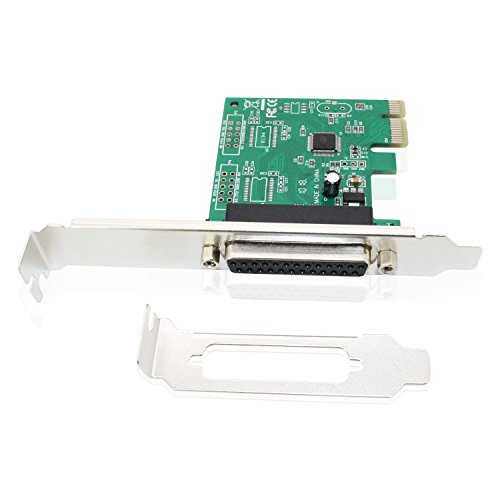 WCH382 Chip Support Win XP//7//8 PCI Express to 2x RS-232 COM and DB25 LPT Printer Adapter Dual Serial Parallel Port PCIe Card Tanbin PCIe Serial Parallel Port Combo Card with Low Profile Bracket
