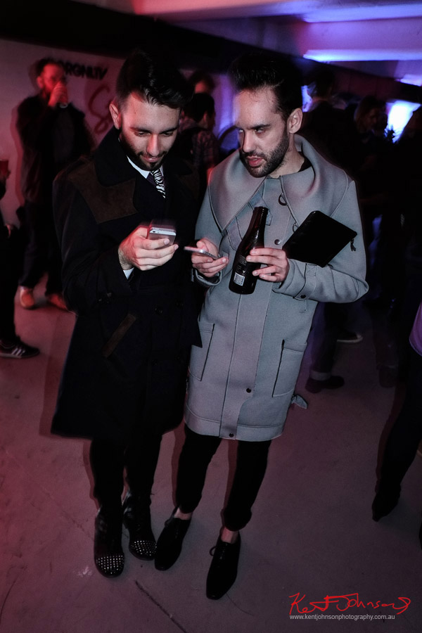 Coats and ties, menswear, ORGNL.TV - Stolichnaya Vodka, Sydney Launch Party
