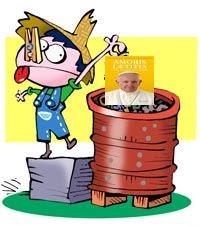 """No te contaminés el alma, poné el veneno de """"Amoris Adulterita"""" en la basura."""