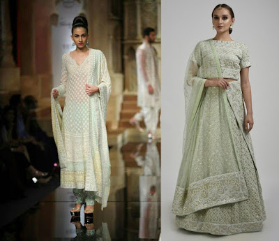 Chikankari outfits are a great way to look subtle yet stylish on your engagement day.