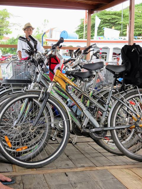 Bicycles on the ferry near Hoi An Vietnam