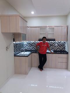 Gambar kitchen set murah model L jakarta