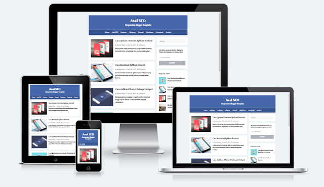 Asal SEO Responsive Blogger Template by Arlina Design
